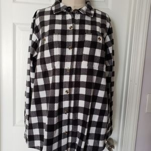 TIME /& TRU Women/'s Red Plaid Shirt with rolled sleeve cuffs Size M fits 8 10